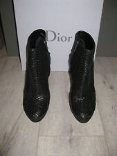 EUC! Gorgeous! Christian Dior Miss Dior Black Leather Platform Booties Boots 9.5