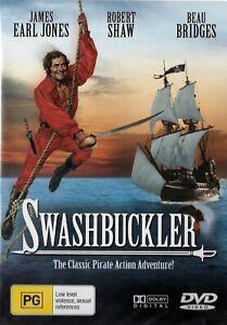 SWASHBUCKLER DVD Swash Buckler 1976 James Earl Jones, Beau Bridges PIRATE MOVIE