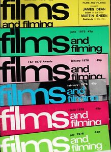 Various Issues of FILMS & FILMING Magazine from January 1970 to March 1990