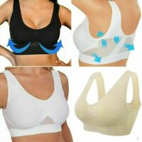 COMFORT AIRE BRA Air Permeable Cooling Summer Sport Yoga Wireless Bra S-3XL New