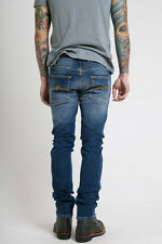 sizes 29 32 33 34 NUDIE jeans TAPE TED RADDLED REDCAST slim skinny blue