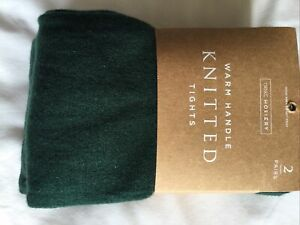 Next Green Tights X Two Size M New