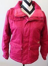 BURTON Red Hooded Winter Ski Snowboard DryRide Coat Sz M 10-12 L#51