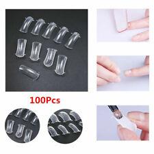 100 Pcs Dual Nail Art System Forms Mold Acrylic False Tips Extension Nail Tools