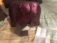 Louis Vuitton Rouge Fauviste Vernis Alma GM Handbag (MINT Condition)