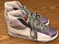 Nike 317808 511 Blazer High Women's Purple White Leather Athletic Shoes Sz 9.5