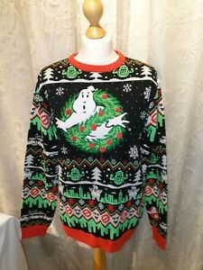 Official Ghostbusters Christmas Jumper / Ugly Sweater Size Small