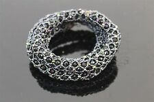 Hand Woven Peyote Stitch Black Faceted Iridescent Seed Bead Snake Wrap Bracelet