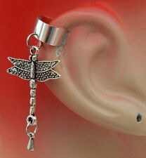 Dragonfly Ear Cuff  Charm Drop Dangle Handmade Jewelry Silver Accessories NEW