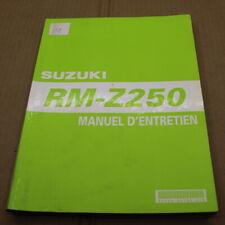 MANUEL REVUE TECHNIQUE D ATELIER SUZUKI RM-Z 250 2004 K4->250rmz EN FRANCAIS RMZ