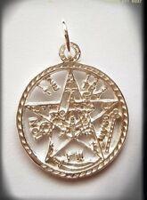 925 Sterling Silver Tetragrammaton pentagram pagan wiccan Pendant Plata esoteric