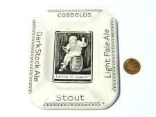 More details for cobbold's beer novelty pictorial i drank it myself advertising pottery ashtray