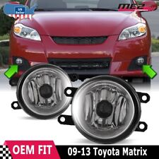 For Toyota Matrix 09-13 Factory Bumper Replacement Fit Fog Lights DOT Clear Lens