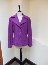 APANAGE Jacket~ Fuscia / Purple~ Button Front~ Size 38 / UK 12 ~ Wool & Cashmere