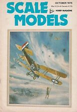 Scale Models Oct 1975 - de Havilland D.H.9 - USS Knox - Airfix Bentley  - Skyvan