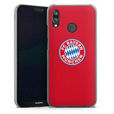 Huawei P20 Lite Handyhülle Case Hülle - FC Bayern München Logo auf Rot
