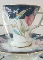 VINTAGE Fine Bone China Tea Cup Saucer Set Serving for Four Made In Korea NEW