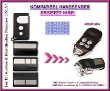Liftmaster Chamberlain 4330E, 4332E, 4333E, 4335E kompatibel handsender, Ersatz