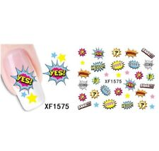 Bang Hello Yes Love Nail Art Sticker Decal Decoration Manicure Water Transfer