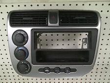 2001 02 03 04 05 HONDA CIVIC A/C HEATER CLIMATE CONTROL RADIO BEZEL VENT HAZARD