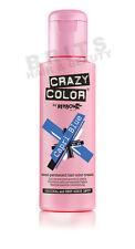 Crazy Color Semi Permanent Hair Colour Dye Cream by Renbow 100ml All Colours Capri Blue 44 Cc44