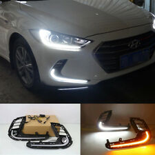 DRL FOR HYUNDAI ELANTRA AD 2017 CAR LED DAYTIME RUNNING LIGHT FOG LAMP W/ TURN