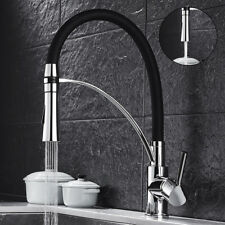 Swivel Kitchen Sink Mixer Taps Pull Out Down Two Ways Spout Brass Basin Tap 360°