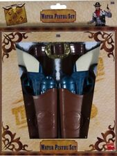Cowboy Guns And Holster Fancy Dress Accessory Kit Wild West Rodeo
