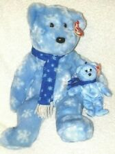 TY Jingle Beanie Baby - 1999 HOLIDAY TEDDY (5 in. & 13 in. ) Blue NWT Bundle