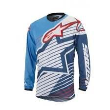 Vêtements de cross bleus Alpinestars