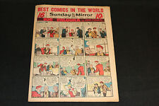 1951 Sunday Mirror Weekly Comic Section August 12th (Vf) Steve Canyon Superman