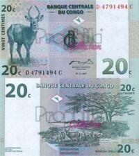Kongo (Kinshasa) Pick-number: 83a mint UNC 1997 20 Centimes Springbock