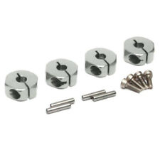 Boom Racing 12mm Alum Wheel Hex Adaptors w/ Lock Screws Pins & Screws (4) Silver