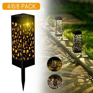 4er Solarlampe Solarleuchte Gartenlicht Außen-Beleuchtung Schattenlaterne Neu