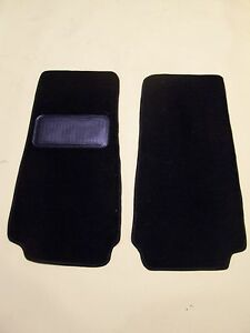FIAT 124  SPIDER 66-82 BLACK CUT PILE 2 PIECE PROTECTOR MAT WITH NIB BACKING