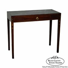 Charmant Henkel Harris Mahogany Federal Style Marble Top Inlaid Console Mixing Table