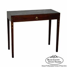 Henkel Harris Mahogany Federal Style Marble Top Inlaid Console Mixing Table
