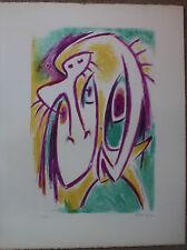 Gérard VULLIAMY - Lithographie signée numérotée personnages surréalistes 1972***