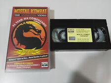 MORTAL KOMBAT THE ANIMATED VIDEO EL VIAJE HA COMENZADO VHS TAPE CINTA CASTELLANO