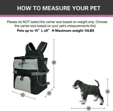 New listing Front Dog Cat Pet Carrier, Dog Backpack Bag by Eugene's. Free Your Hands