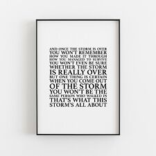 And Once The Storm is Over Typography Print Wall Art Poster Inspiration Gift