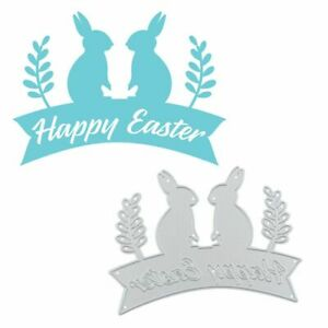 Happy Easter Bunny Metal Cutting Dies for Card Making Scrapbooking Embossing