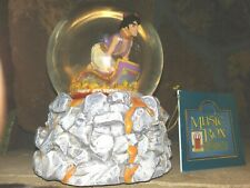 ALADDIN AND ABU ON MAGIC CARPET, SCHMID ROTATING MUSICAL SNOW GLOBE, NEW w/TAG