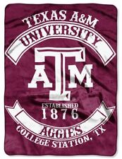 "Texas A&M Aggies Plush 60"" by 80"" Twin Size NCAA Blanket"