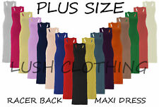 Plus Size Jersey Full Length Maxi Dresses for Women
