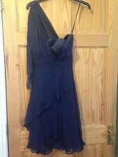 Coast, size 6, navy chiffon dress, ideal for formal events