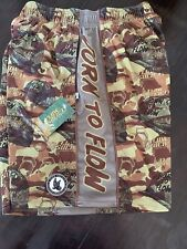 Flow Society Mens Lax Lacrosse Shorts New Nwt M Med Born To Flow Camouflage Camo