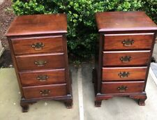 Pair Solid Mahogany NightStands Made By Hungerford. Local Pickup Onlyd. Vintage.