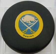1977-83 BUFFALO SABRES  NHL VICEROY  OFFICIAL GAME USED PUCK CANADA VINTAGE