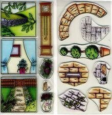 Tonic Studios - Clear Stamps - 'Country Cottage' Set & 'Through the Window Set'